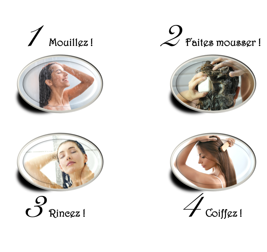 mode d'emploi des shampoings